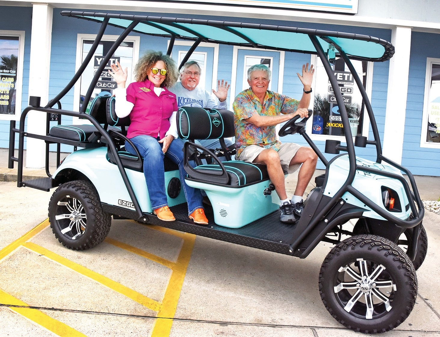 Golf cart raffle tickets on sale | Port Aransas South Jetty